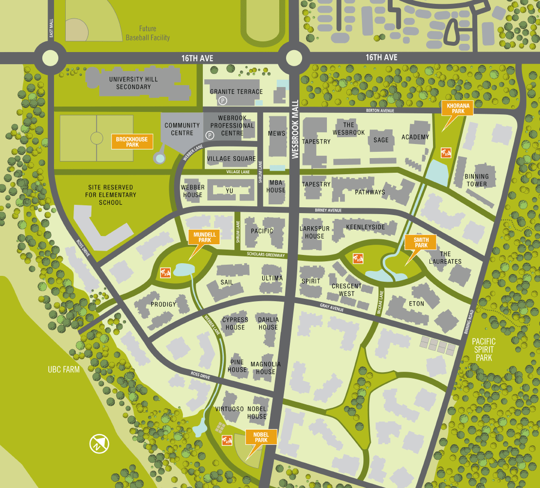 Wesbrook-parks-map