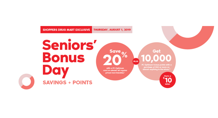Shoppers Drug Mart: Senior's Bonus Day | Wesbrook - Shops +